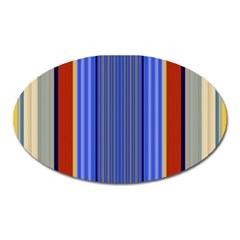 Colorful Stripes Background Oval Magnet by Simbadda
