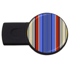 Colorful Stripes Background Usb Flash Drive Round (2 Gb) by Simbadda