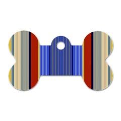 Colorful Stripes Background Dog Tag Bone (two Sides) by Simbadda