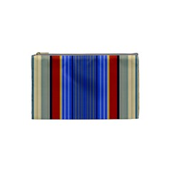 Colorful Stripes Background Cosmetic Bag (small)  by Simbadda