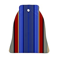 Colorful Stripes Background Ornament (bell)