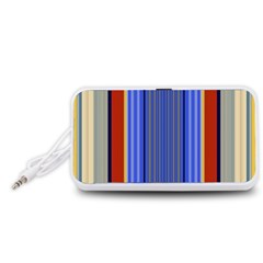 Colorful Stripes Background Portable Speaker (white) by Simbadda