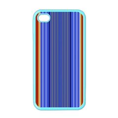 Colorful Stripes Background Apple Iphone 4 Case (color) by Simbadda