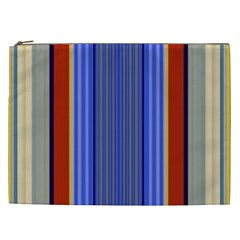 Colorful Stripes Background Cosmetic Bag (xxl)  by Simbadda
