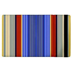 Colorful Stripes Background Apple Ipad 2 Flip Case by Simbadda