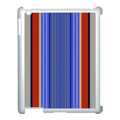 Colorful Stripes Background Apple Ipad 3/4 Case (white) by Simbadda