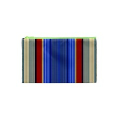Colorful Stripes Background Cosmetic Bag (xs) by Simbadda
