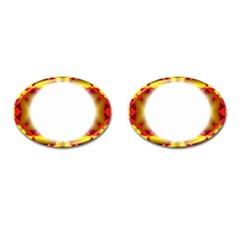 Circle Fractal Frame Cufflinks (oval) by Simbadda