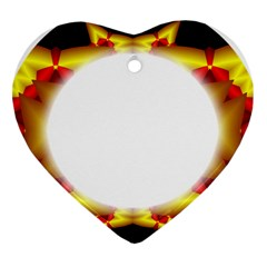 Circle Fractal Frame Heart Ornament (two Sides) by Simbadda