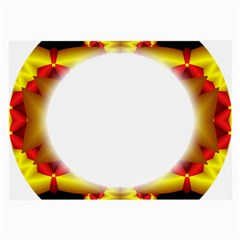 Circle Fractal Frame Large Glasses Cloth (2 Side) by Simbadda