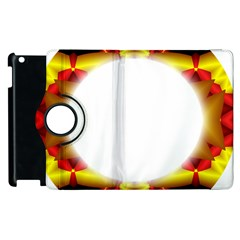 Circle Fractal Frame Apple Ipad 3/4 Flip 360 Case by Simbadda