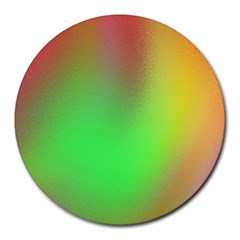 November Blurry Brilliant Colors Round Mousepads