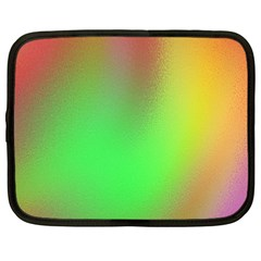 November Blurry Brilliant Colors Netbook Case (large) by Simbadda