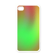 November Blurry Brilliant Colors Apple Iphone 4 Case (white)