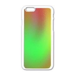 November Blurry Brilliant Colors Apple Iphone 6/6s White Enamel Case by Simbadda