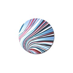 Wavy Stripes Background Golf Ball Marker (4 Pack) by Simbadda