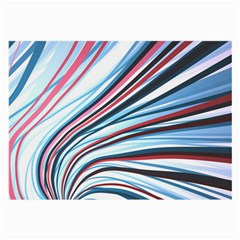 Wavy Stripes Background Large Glasses Cloth by Simbadda