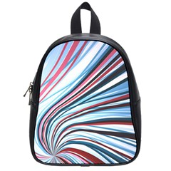 Wavy Stripes Background School Bags (small)  by Simbadda
