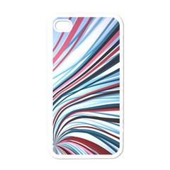 Wavy Stripes Background Apple Iphone 4 Case (white) by Simbadda