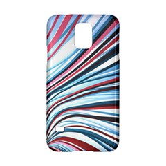 Wavy Stripes Background Samsung Galaxy S5 Hardshell Case  by Simbadda