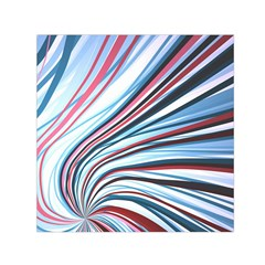 Wavy Stripes Background Small Satin Scarf (square) by Simbadda
