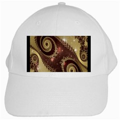 Space Fractal Abstraction Digital Computer Graphic White Cap by Simbadda