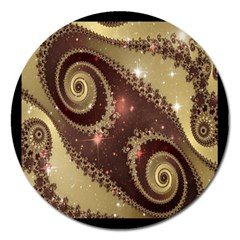 Space Fractal Abstraction Digital Computer Graphic Magnet 5  (round) by Simbadda