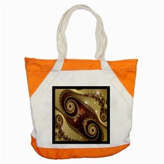 Space Fractal Abstraction Digital Computer Graphic Accent Tote Bag by Simbadda