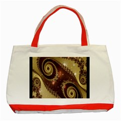 Space Fractal Abstraction Digital Computer Graphic Classic Tote Bag (red) by Simbadda