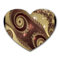 Space Fractal Abstraction Digital Computer Graphic Heart Mousepads by Simbadda