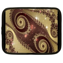 Space Fractal Abstraction Digital Computer Graphic Netbook Case (xl)  by Simbadda