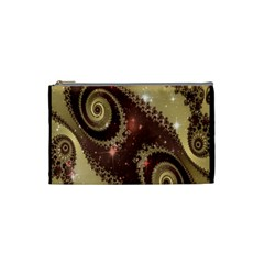 Space Fractal Abstraction Digital Computer Graphic Cosmetic Bag (small)  by Simbadda