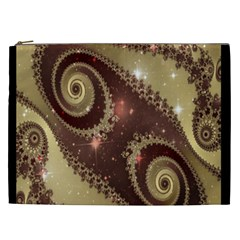 Space Fractal Abstraction Digital Computer Graphic Cosmetic Bag (xxl)  by Simbadda