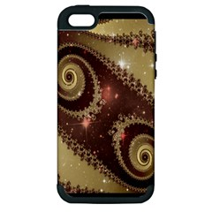 Space Fractal Abstraction Digital Computer Graphic Apple Iphone 5 Hardshell Case (pc+silicone) by Simbadda
