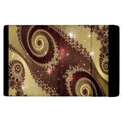 Space Fractal Abstraction Digital Computer Graphic Apple Ipad 3/4 Flip Case by Simbadda