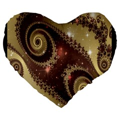 Space Fractal Abstraction Digital Computer Graphic Large 19  Premium Heart Shape Cushions by Simbadda