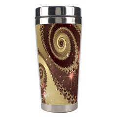 Space Fractal Abstraction Digital Computer Graphic Stainless Steel Travel Tumblers by Simbadda