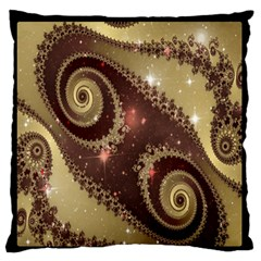 Space Fractal Abstraction Digital Computer Graphic Standard Flano Cushion Case (one Side) by Simbadda