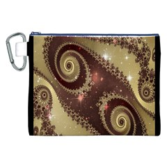 Space Fractal Abstraction Digital Computer Graphic Canvas Cosmetic Bag (xxl) by Simbadda