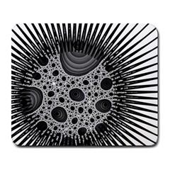 Fractal Background Black Manga Rays Large Mousepads by Simbadda