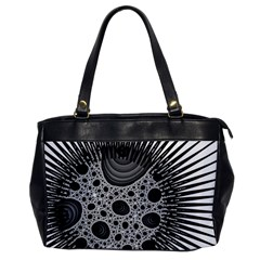Fractal Background Black Manga Rays Office Handbags by Simbadda