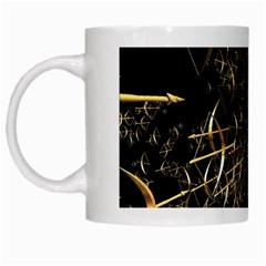 Golden Bows And Arrows On Black White Mugs by Simbadda