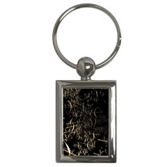 Golden Bows And Arrows On Black Key Chains (rectangle)  by Simbadda