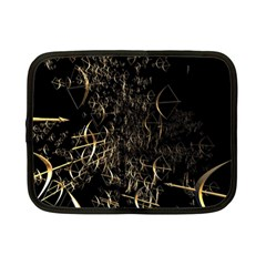 Golden Bows And Arrows On Black Netbook Case (small)  by Simbadda