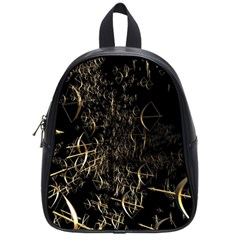 Golden Bows And Arrows On Black School Bags (small)  by Simbadda