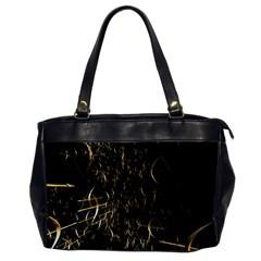 Golden Bows And Arrows On Black Office Handbags by Simbadda