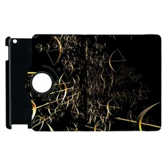 Golden Bows And Arrows On Black Apple Ipad 2 Flip 360 Case by Simbadda