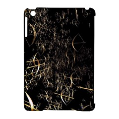 Golden Bows And Arrows On Black Apple Ipad Mini Hardshell Case (compatible With Smart Cover) by Simbadda