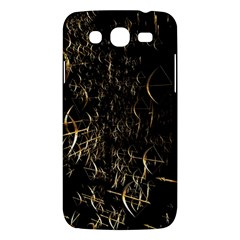 Golden Bows And Arrows On Black Samsung Galaxy Mega 5 8 I9152 Hardshell Case  by Simbadda