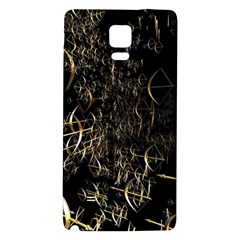 Golden Bows And Arrows On Black Galaxy Note 4 Back Case by Simbadda